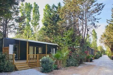 Mobile home KOSY 4, wooden terrace, TV, air conditioning, 1 car (2 bedrooms) - Ecolodge L'Etoile d'Argens