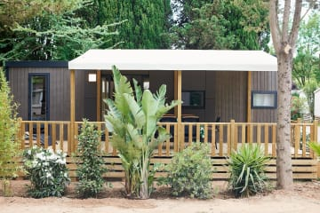 Mobile home KOSY 5, Wooden terrace with awning, TV, Air conditioning, 1 car (2 bedrooms) - Ecolodge L'Etoile d'Argens