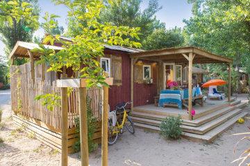 Cabane Jardin 3 chambres PREMIUM climatisée - Le Sérignan Plage