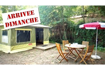 2-room 20 sqm CARAÏBES canvas bungalow (from Sunday to Sunday) - Le Moulin de David