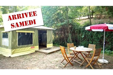 2-room 20 sqm CARAÏBES canvas bungalow (from Saturday to Sunday) - Le Moulin de David