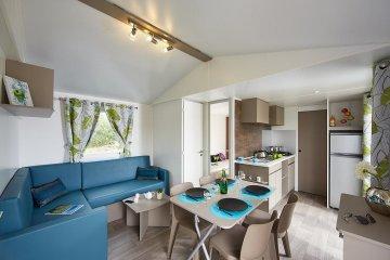 Mobil-home -2 chambres - 1 salle de bain  Family Premium 5 personnes - Le Ruisseau