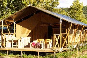 Tente - 2 chambres - 1 salle de bain - Safari - Le Ruisseau