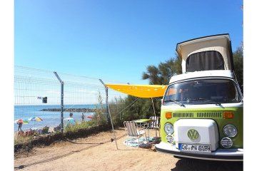 PACKAGE Seaview** (Pitch + car + tent or caravan + electricity) - Club Farret