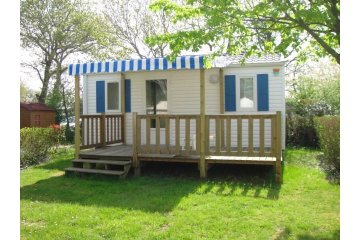 Mobil Home BIKINI 23m² - 2 chambres - 2 Adultes et 2 enfants - Terrasse - TV - 2 fauteuils relaxation - L'Orée de l'Océan