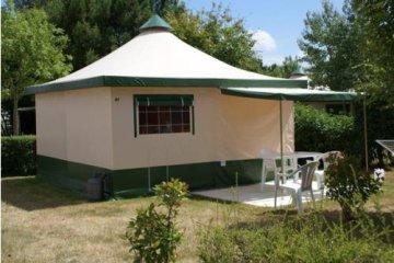 Canvas bungalow Cyrus 20 m² - 2 bedrooms / without toilet blocks - L'Orée de l'Océan