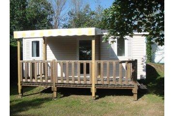 Mobil Home DOMINO 26m² - 2 chambres - 2 Adultes et 4 enfants - Terrasse - TV - 2 fauteuils de ... - L'Orée de l'Océan