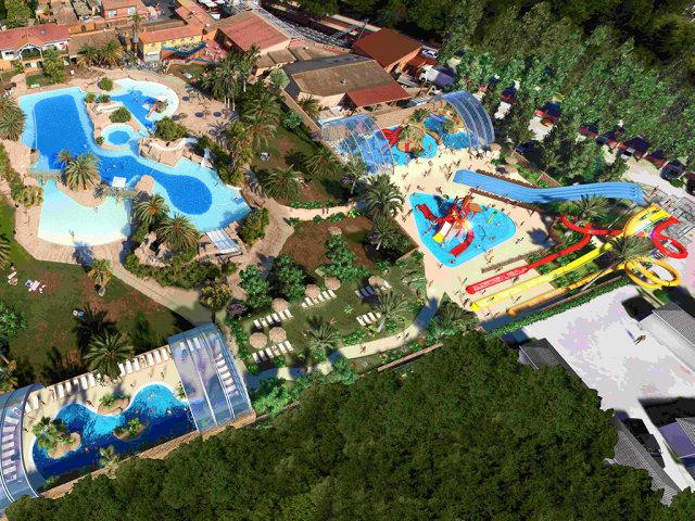 The water park of campsite La Sirène (Argeles sur Mer)