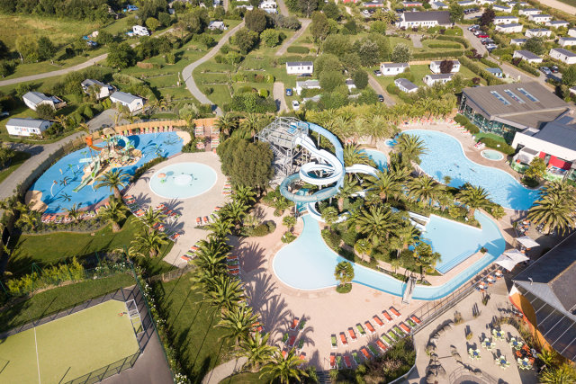 The water park of the Les Mouettes campsite (Carantec)