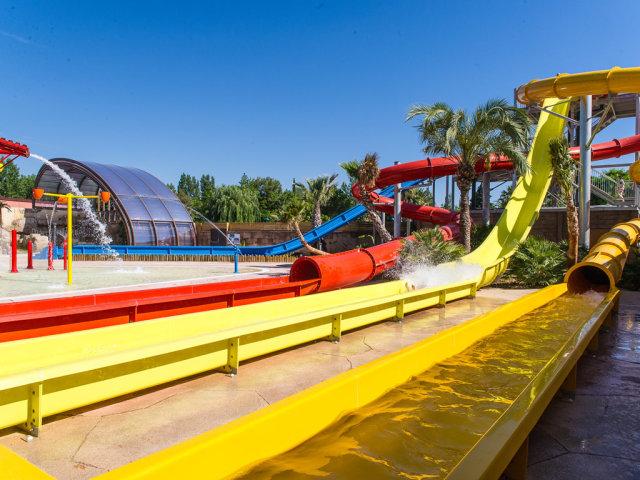 The water slides of campsite La Sirène