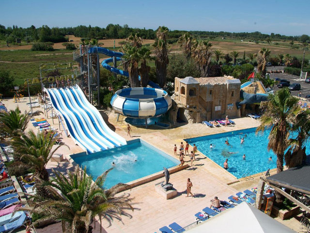 The water slides of campsite Les Mimosas