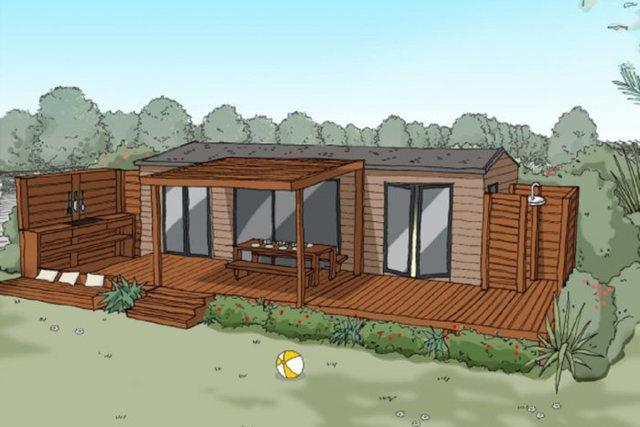 New 100% comfort holiday rentals at the La Pinède campsite