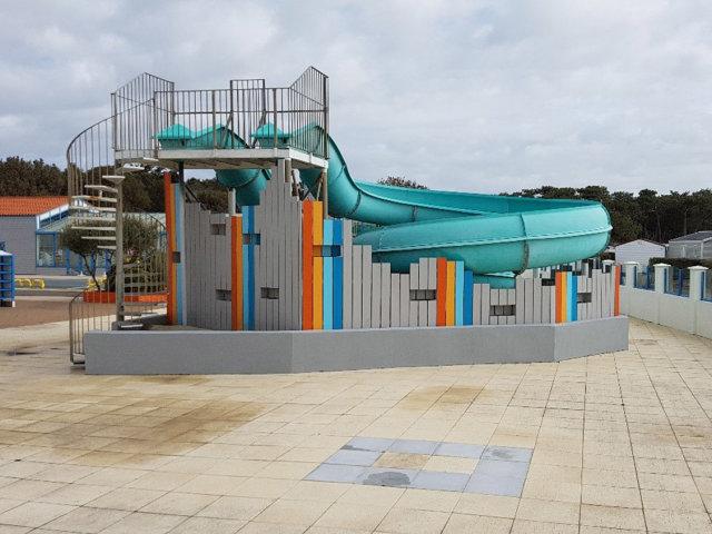 New facilities for the aquatic area at the Les Dunes campsite