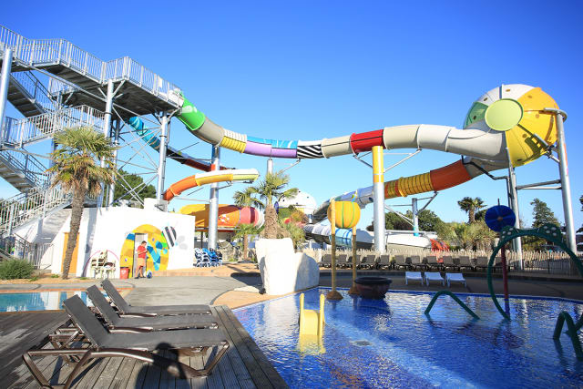 The water park of the campsite Le Château (Saint Hilaire de Riez)