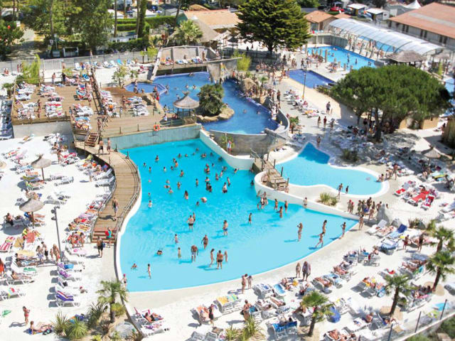 The water park of campsite Le Vieux Port (Messanges)