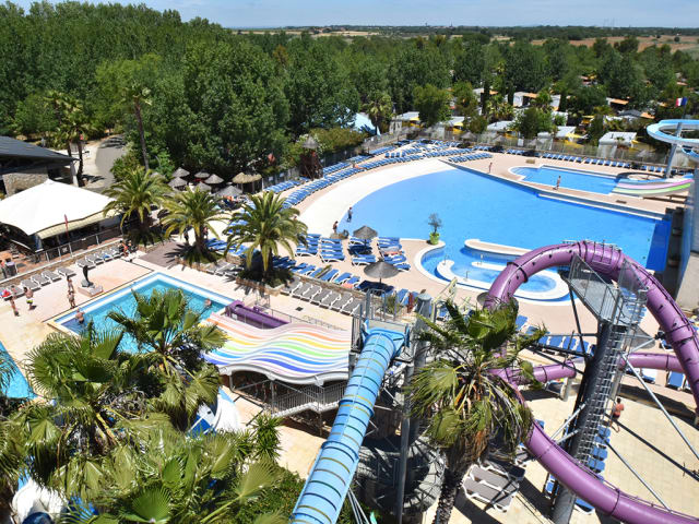 The water park of campsite Les Mimosas (Portiragnes)
