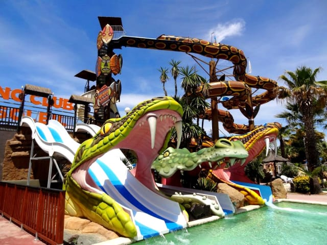 The water slides on campsite Le Cap Soleil