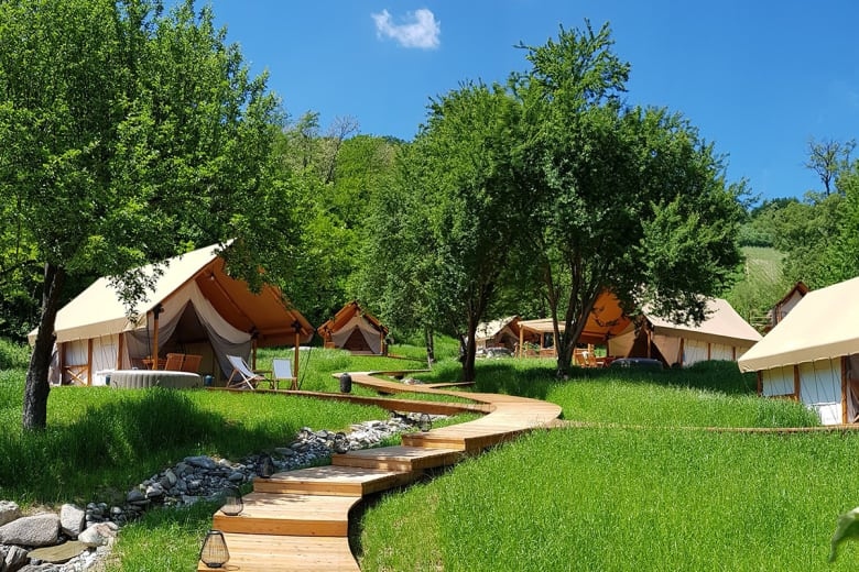 camping luxe chateau ramsak