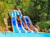 A new aquatic play area at the La Paille Basse campsite
