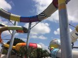 The water slides of campsite Le Château