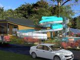 Extension of the aquatic park of the Le Moulin de l'Eclis campsite