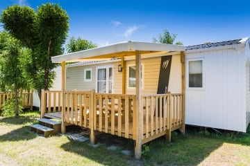 FAMILY ESPACE 2 chambres avec terrasse en bois semi couverte - Palmyre Loisirs