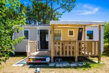 GRAND FAMILY ESPACE 3 chambres avec terrasse en bois semi couverte - Palmyre Loisirs