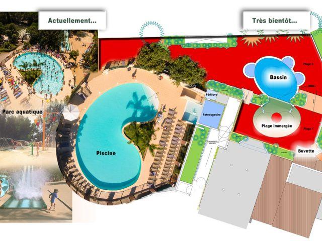 Extension of the aquatic park at the Camping de la Pascalinette campsite®