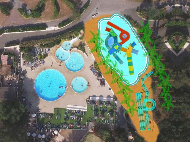 Extension of the aquatic park at the Esterel Caravaning campsite