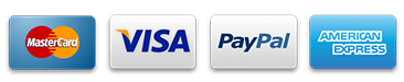 Payment Accepted Visa Mastercard American Express Paypal