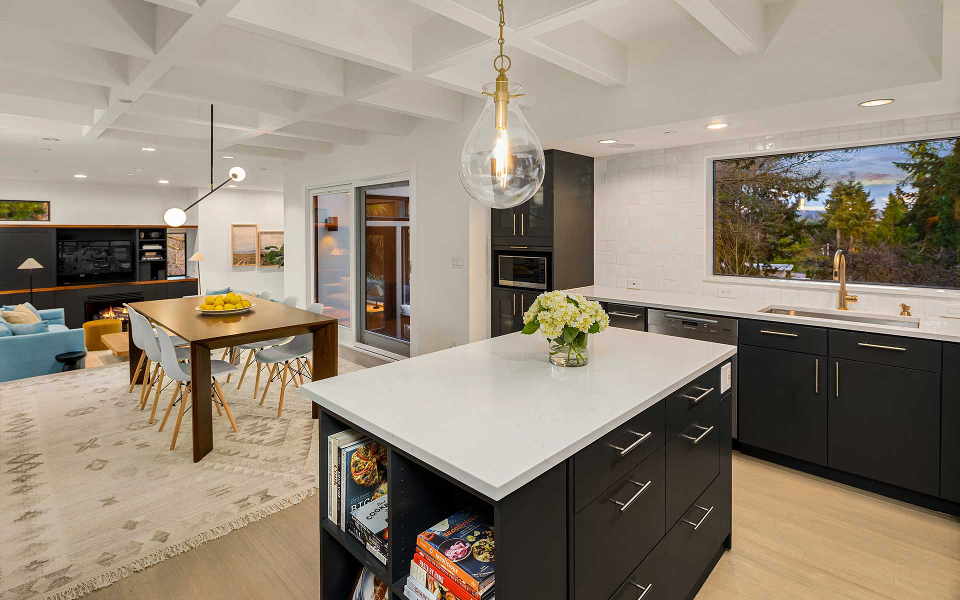 Northwest Meets SoCal  in this Medina Modern photo