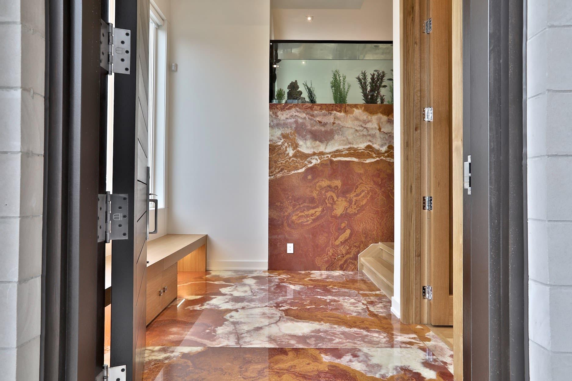 Modern Masterpiece With Ravine Backdrop