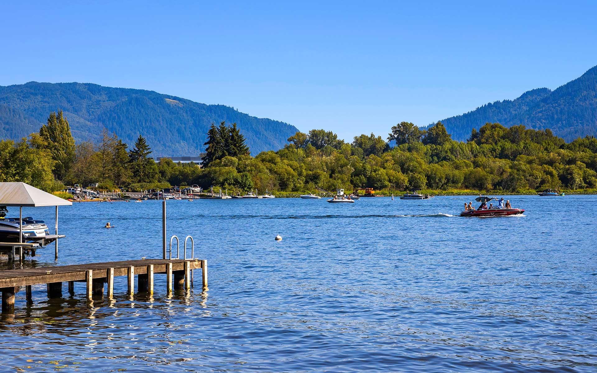 Idyllic Setting on Lake Sammamish photo