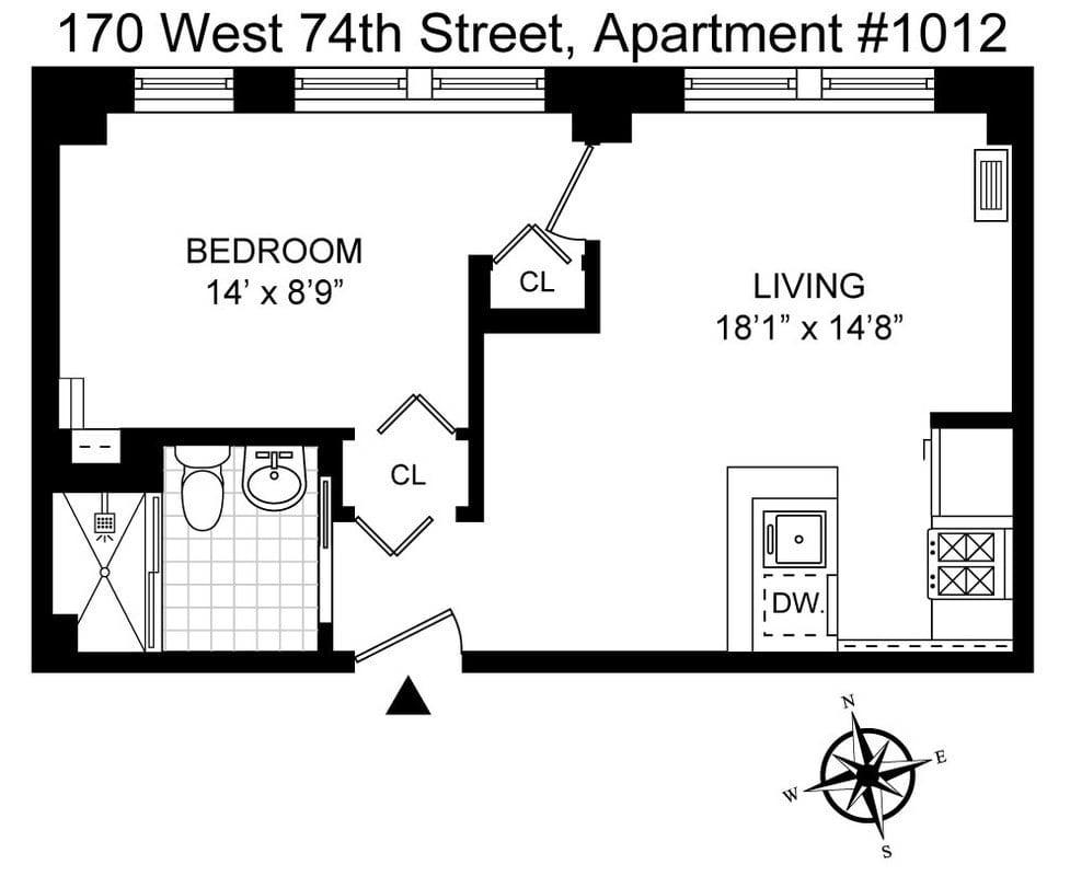 170 W 74th St, #1012 photo