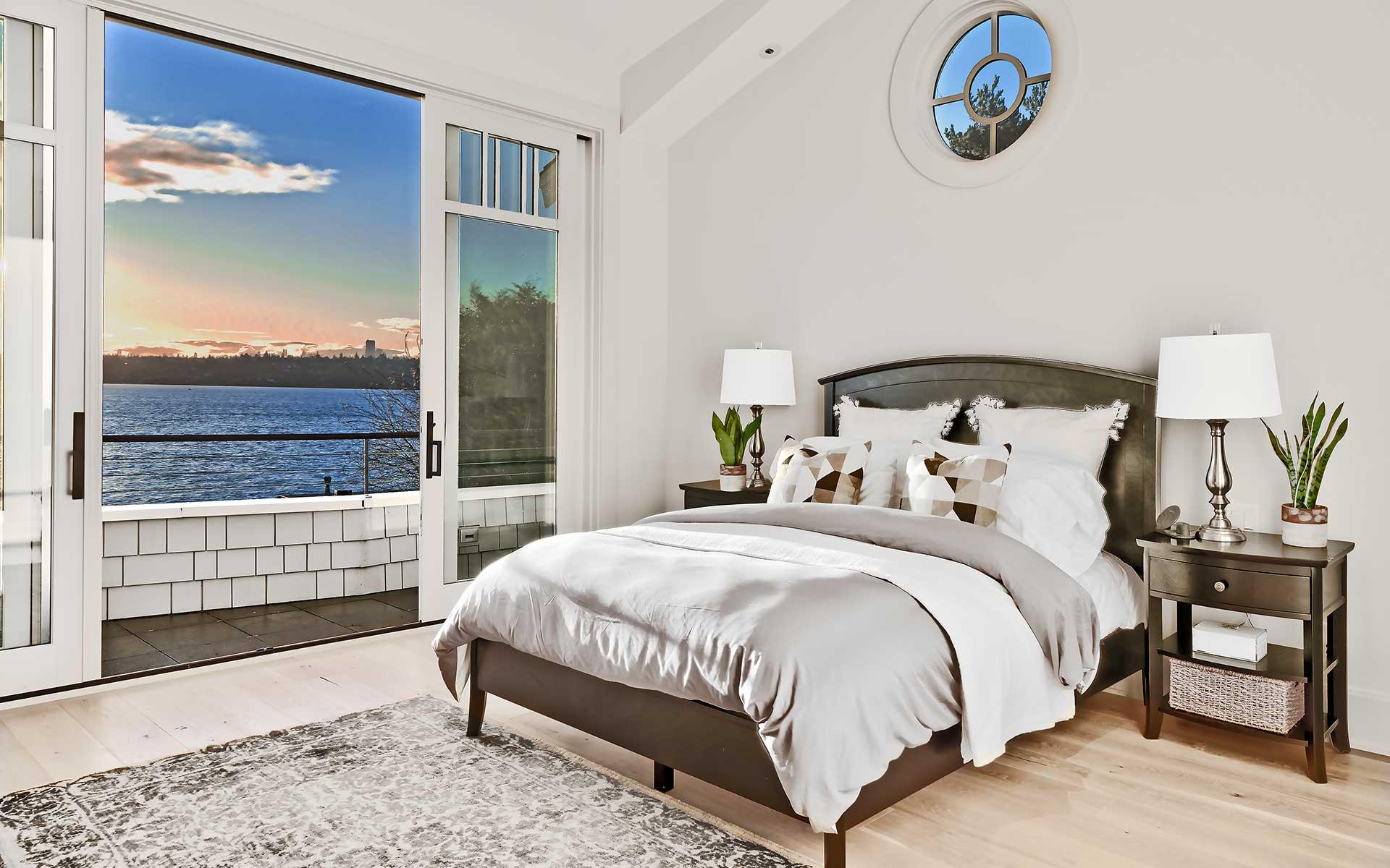 Modern Cape Cod on Medina Waterfront photo