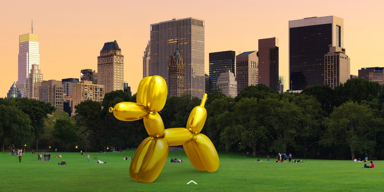 Jeff Koons and Snapchat Partner in Augmented Reality Project