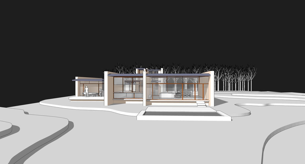 Stunning Land Opportunity with Plans for a New Modern Residence