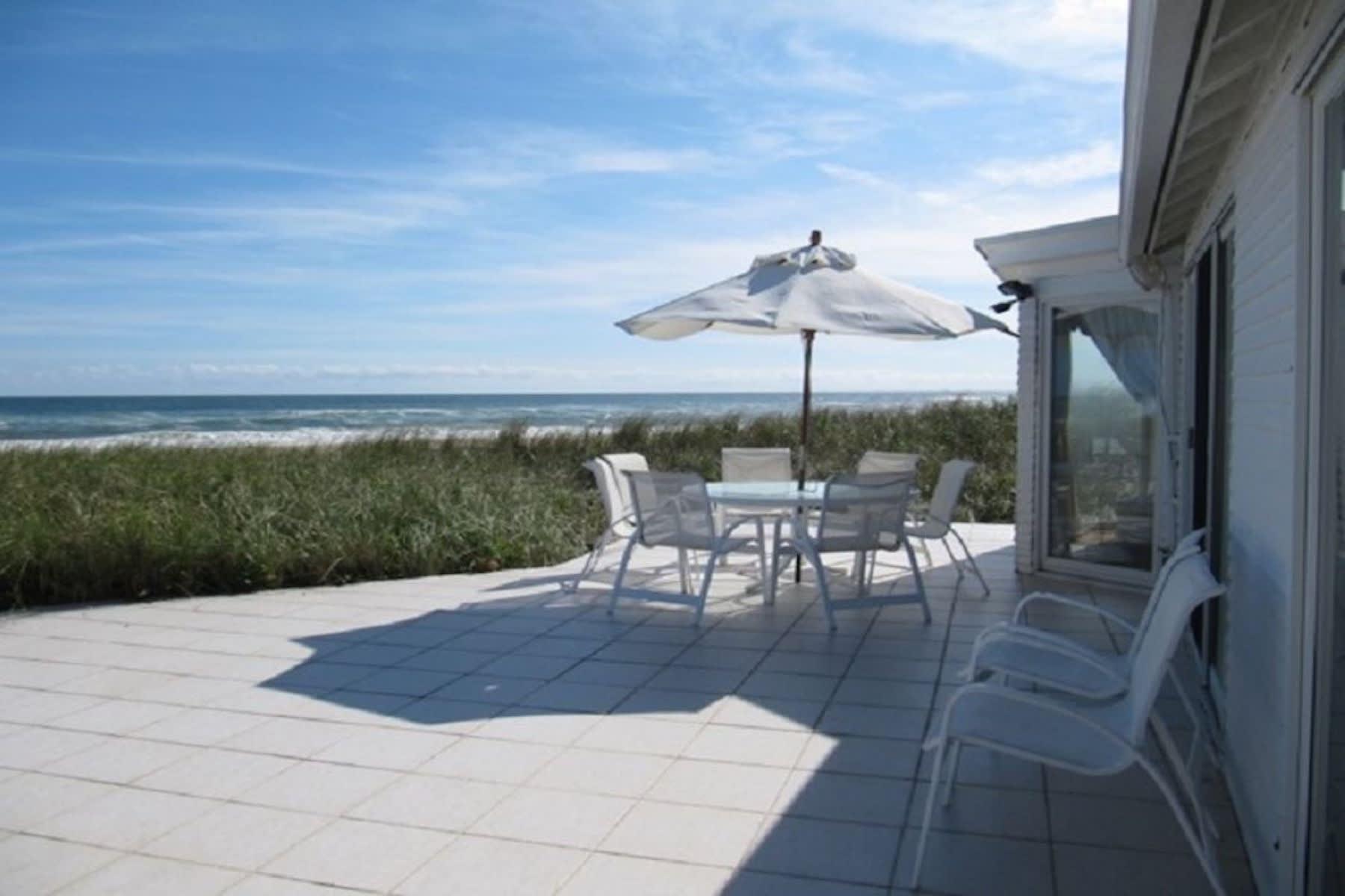 Large Shingle-style Beachfront Home