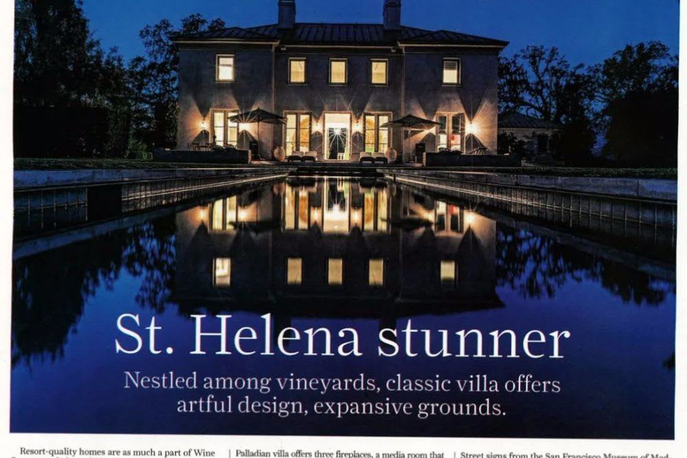 """St. Helena Stunner"" – San Francisco Chronicle"