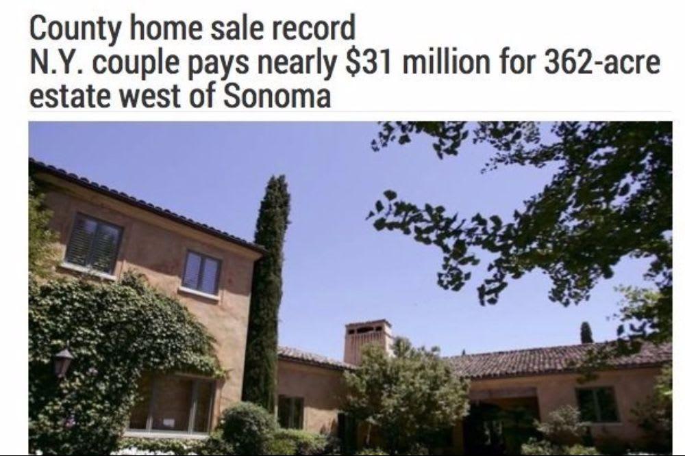Sonoma County Home Sale Record – The Press Democrat