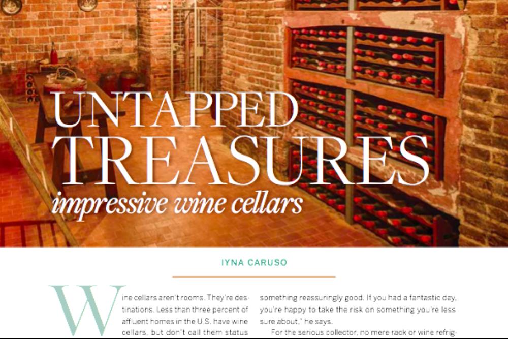 Reside Magazine – Impressive Wine Cellars