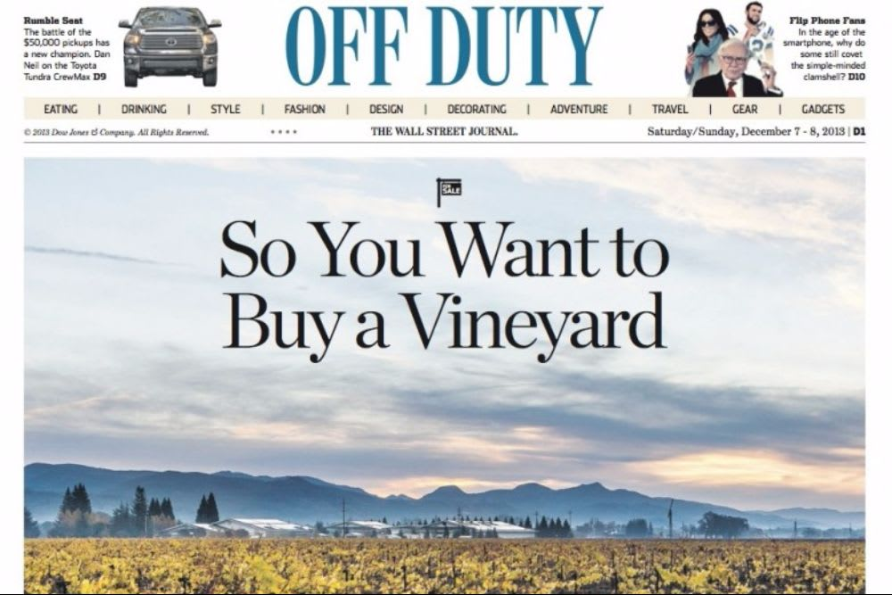 So You Want to Buy a Vineyard
