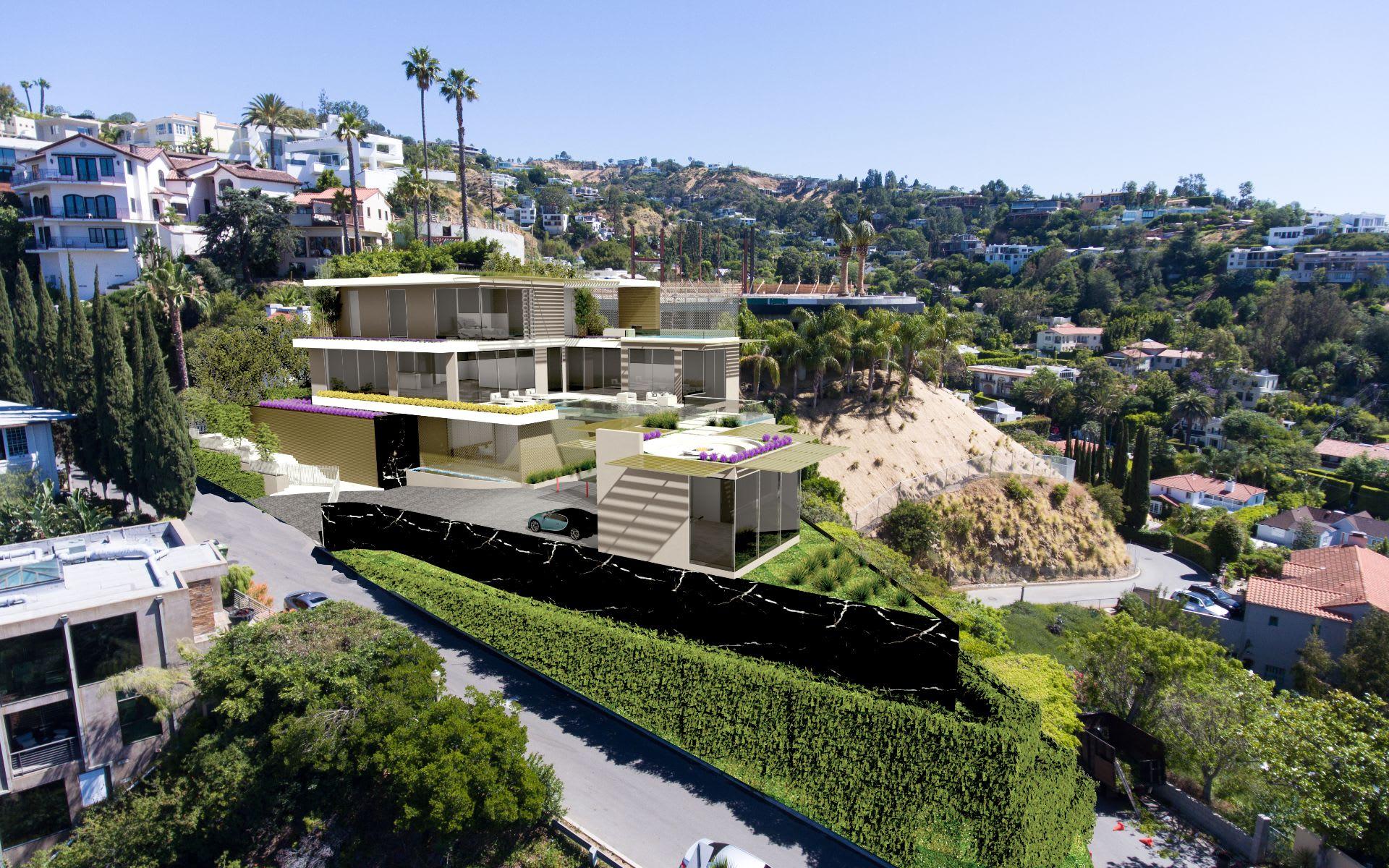 Maison unifamiliale pour l Vente à 9279 Sierra Mar Dr 9279 Sierra Mar Dr Los Angeles, Californie,90069 États-Unis