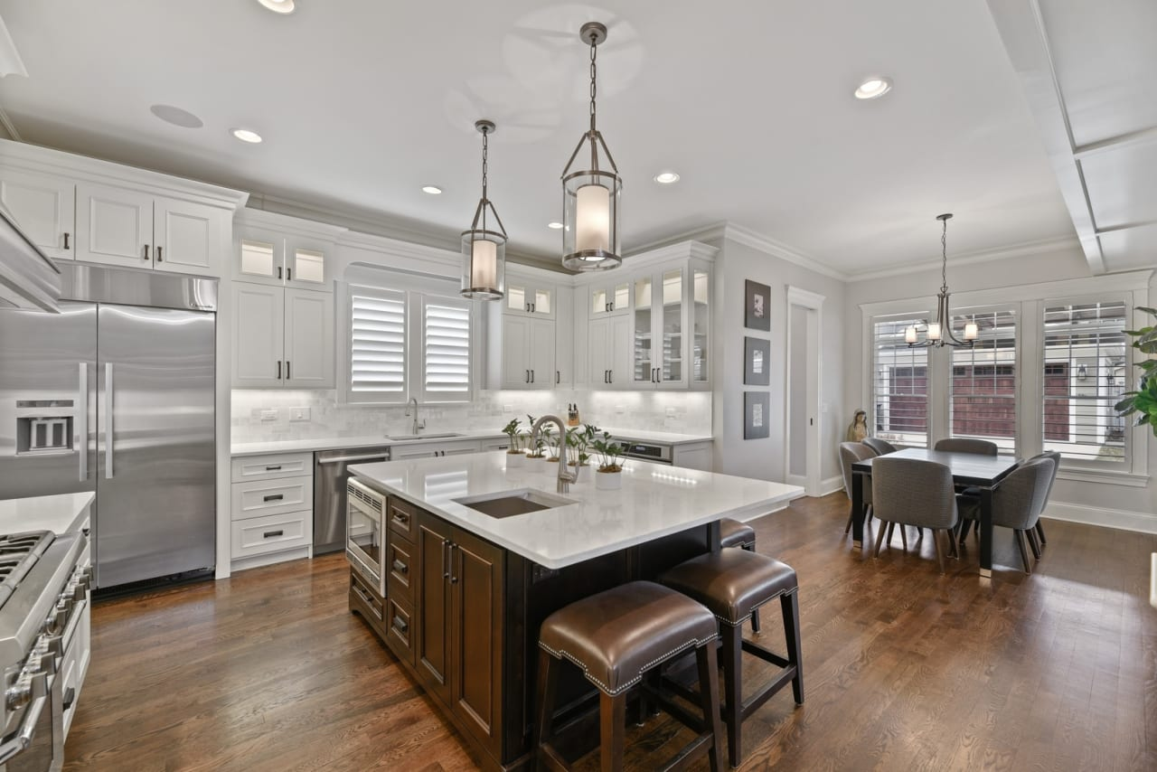 charming home in the coveted Old Town area of Western Springs is spectacular