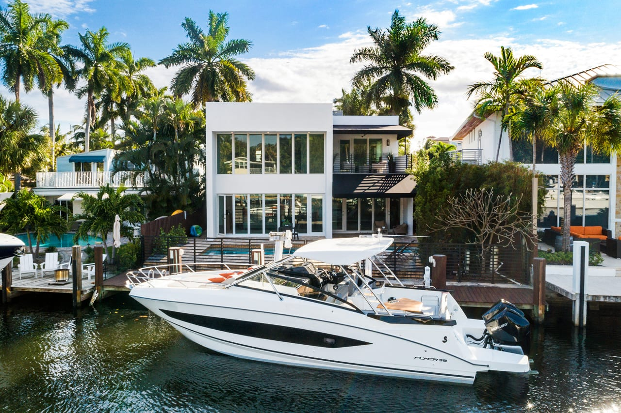 Bring your yacht to this sleek Florida home asking $2.5M