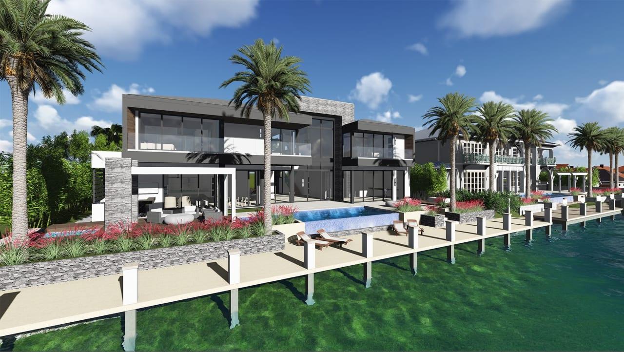 Brand New Contemporary Las Olas Isles Estate