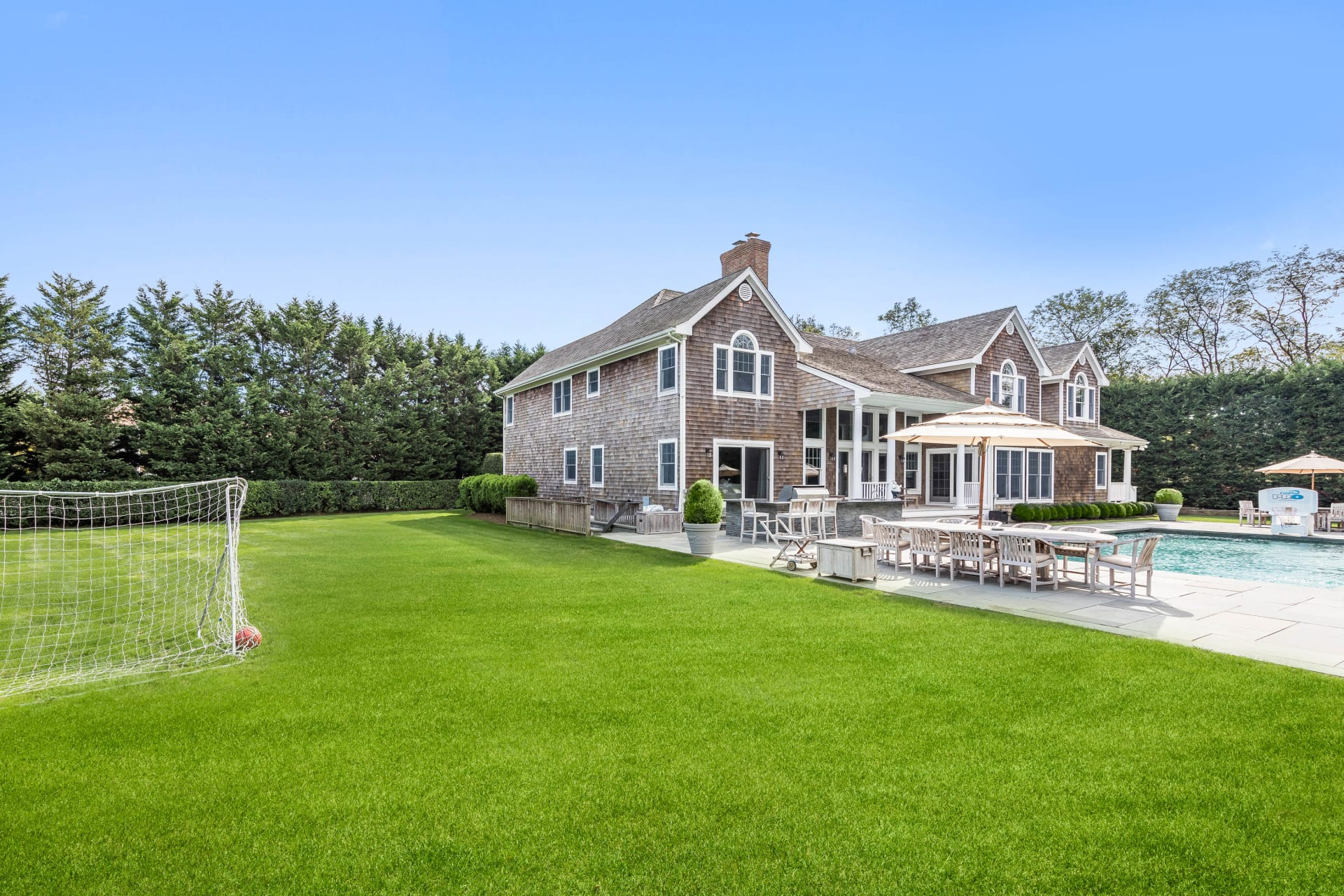 Classic Hamptons Style on a Large, Gated Lot and Secluded Cul de Sac