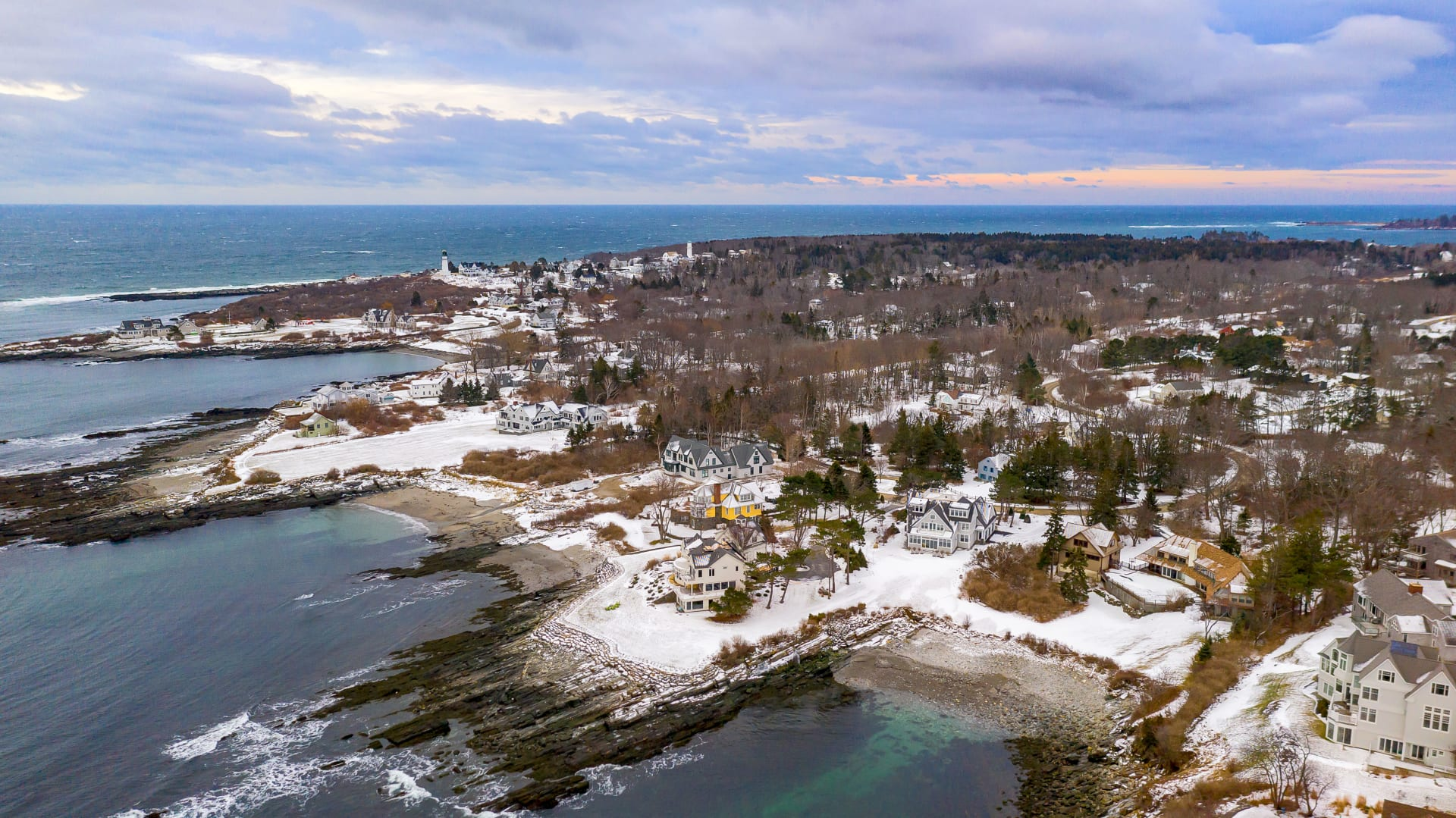 New Construction on the Water in Cape Elizabeth
