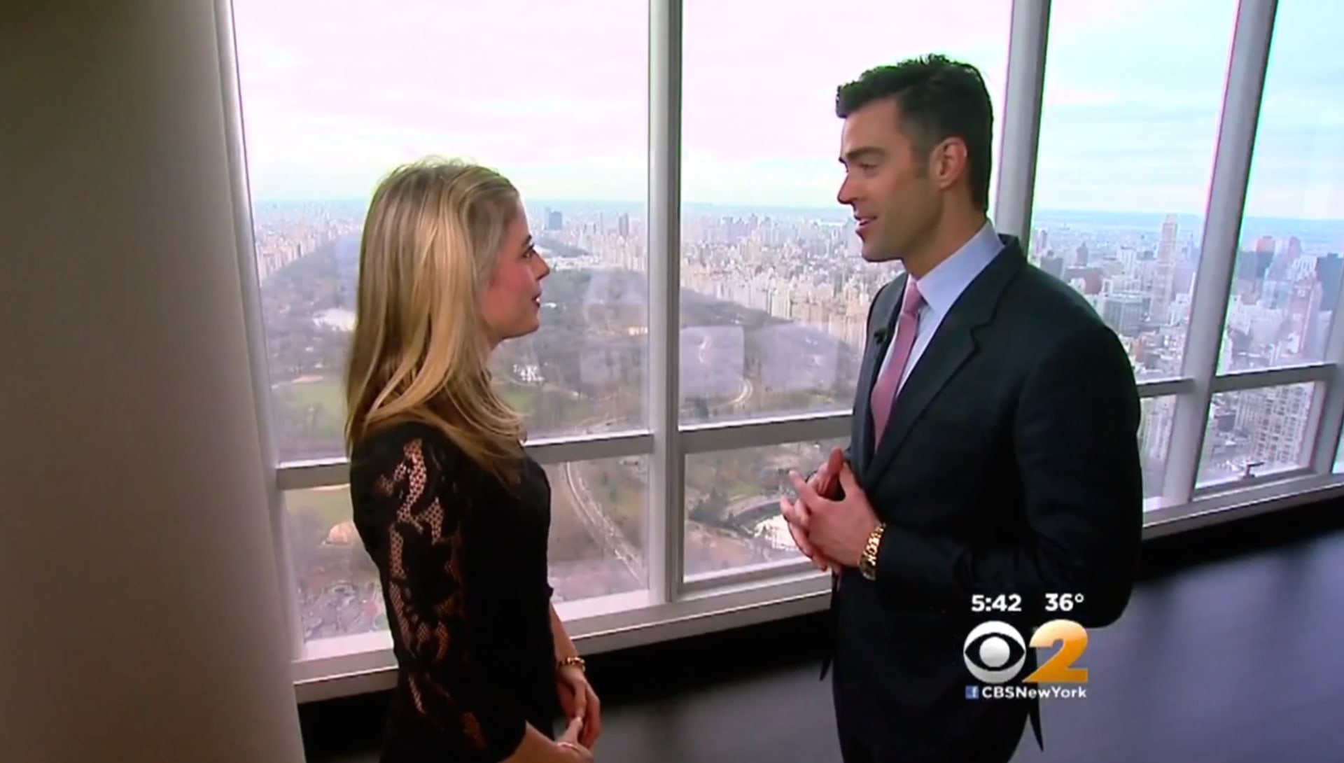 Living Large: Noble Black Tours One57 With CBS New York