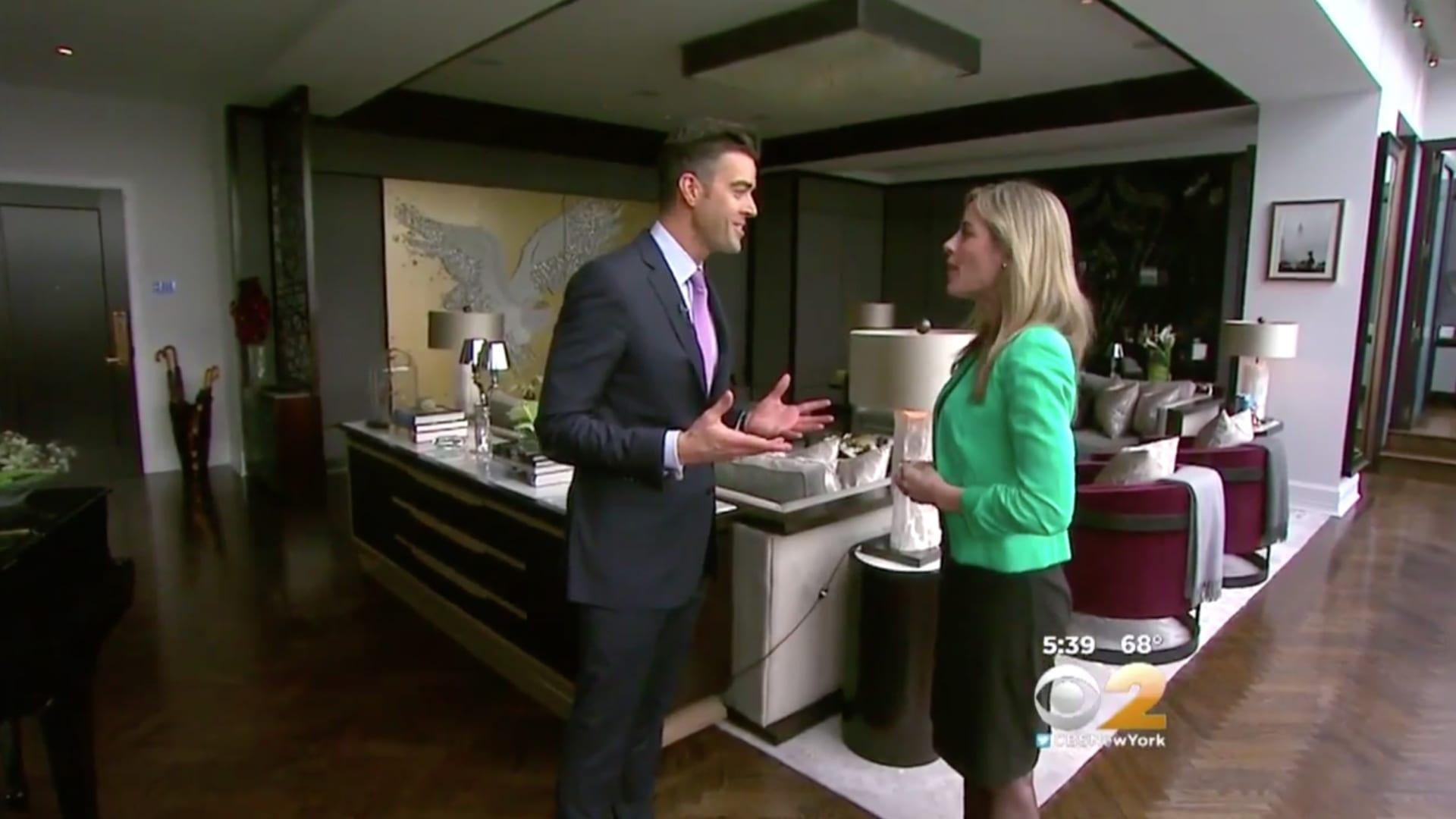 Noble Black Showing Spectacular Plaza Penthouse on CBS Living Large